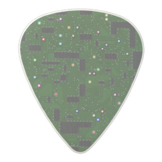 Green Circuit Board Acetal Guitar Pick