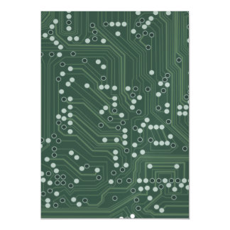 Green Circuit Board Background Pattern Art Magnetic Card