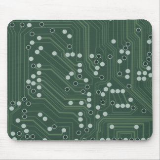Green Circuit Board Background Pattern Art Mouse Pad