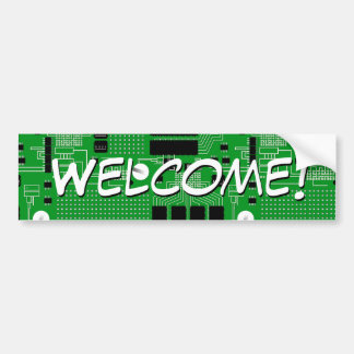 Green circuit board bumper sticker