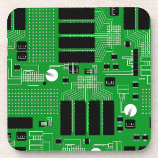 Green circuit board coaster