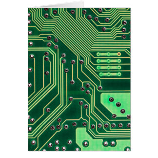 Green Circuit Board - Electronic Print Card