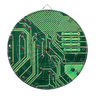 Green Circuit Board - Electronic Print Dartboards