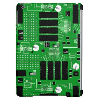 Green circuit board iPad air cases