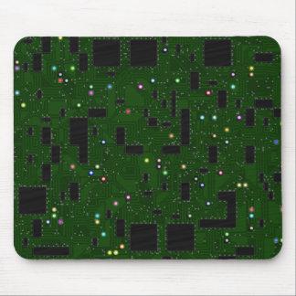 Green Circuit Board Mouse Pad
