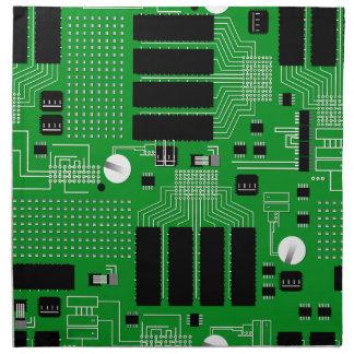 Green circuit board napkin