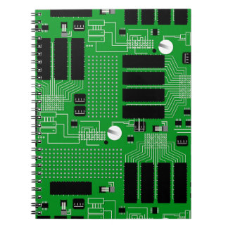 Green circuit board notebooks