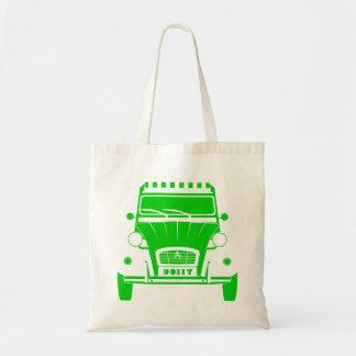 Green Citroen 2cv Deux Chevaux Dolly tote bag