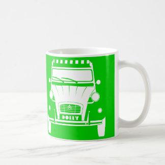 Green Classic Citroen 2CV Deux Chevaux Dolly Mug
