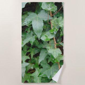 Green Climbing Ivy 0237 Beach Towel