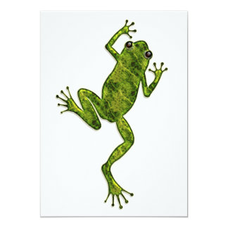 Green Climbing Tree Frog 5x7 Paper Invitation Card