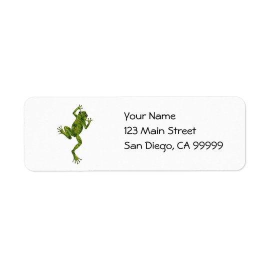 Green Climbing Tree Frog Return Address Label