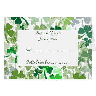 Green Clover All Over Tent Place Card