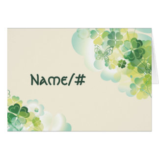 Green Clover and Butterfly Corners Table Card