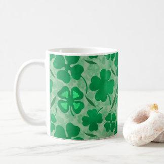 Green Clover Field, Four Leaf Clovers, Luck, Irish Coffee Mug