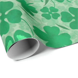 Green Clover Field, Four Leaf Clovers, Luck, Irish Wrapping Paper