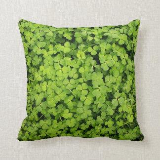 Green Clover Field Pillow