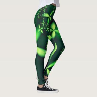 Green Clover Fractal Leggings