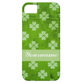 Green Clover Hearts iPhone 5 Cover