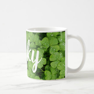 Green clover lucky st.Patrick's mug