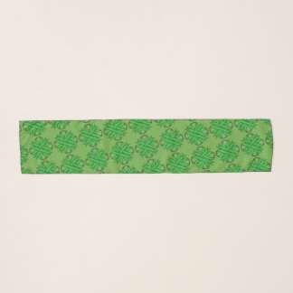 Green Clover Ribbon by Kenneth Yoncich Scarf