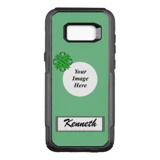 Green Clover Ribbon Template by Kenneth Yoncich OtterBox Commuter Samsung Galaxy S8+ Case