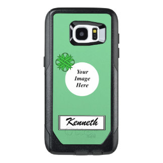 Green Clover Ribbon Template by Kenneth Yoncich OtterBox Samsung Galaxy S7 Edge Case