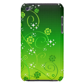 Green clovers and stars barely there iPod cover
