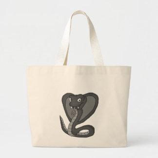 Green cobra large tote bag