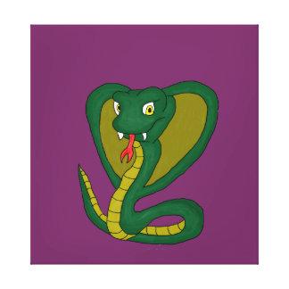 Green Cobra Stretched Canvas Print