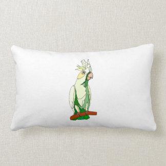 Green Cockatoo Pillow