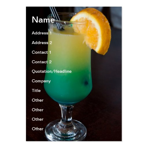 Green cocktail business card templates