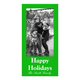 Green Color Customizable Photo Card