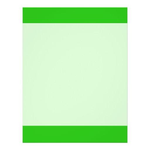 green color custom flyer