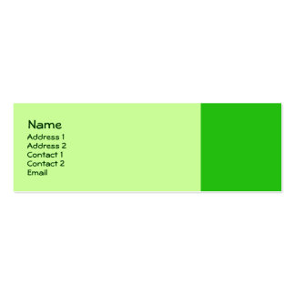 green color mini business card
