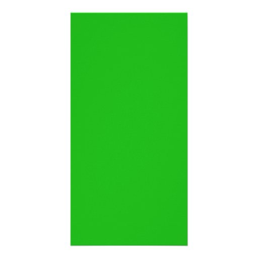 Green Color Photo Greeting Card