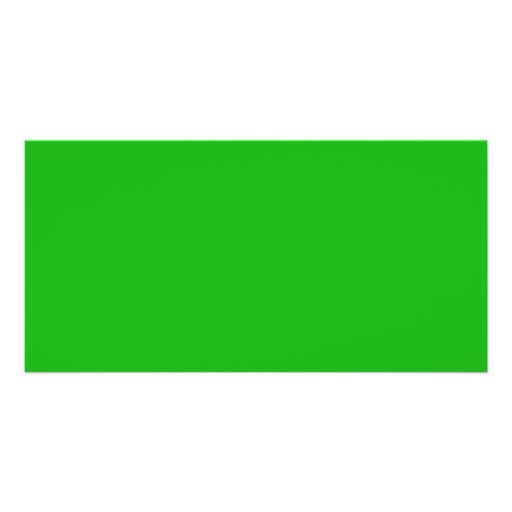 Green Color Picture Card