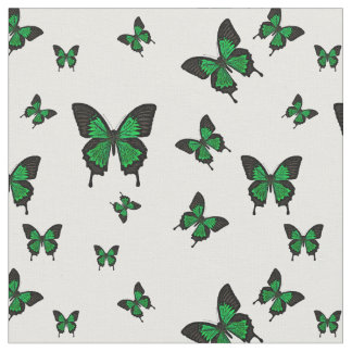 Green colored Butterfies, Swallow tail Butterfly Fabric