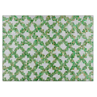 Green Colorful Pattern Cutting Board