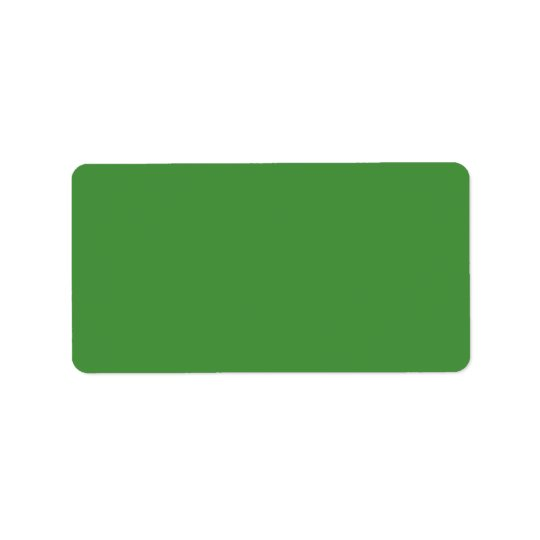Green Colour Personalized Address Label