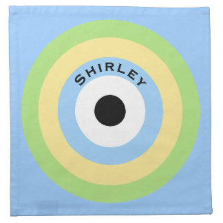 Green Combination Bullseye by Shirley Taylor Napkin