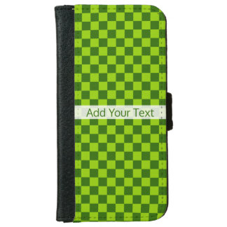 Green Combination Classic Checkerboard by STaylor iPhone 6 Wallet Case