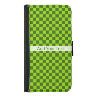 Green Combination Classic Checkerboard by STaylor Samsung Galaxy S5 Wallet Case