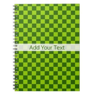 Green Combination Classic Checkerboard by STaylor Spiral Notebook