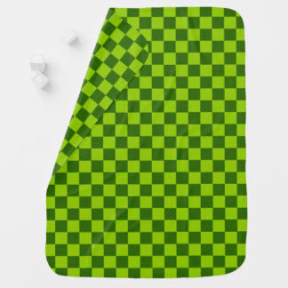 Green Combination Classic Checkerboard by STaylor Swaddle Blanket