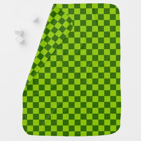 Green Combination Classic Chequerboard by STaylor Swaddle Blanket