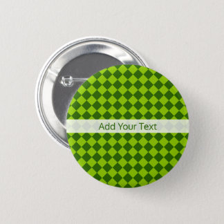 Green Combination Diamond Pattern by STaylor 2 Inch Round Button