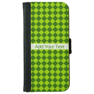 Green Combination Diamond Pattern by STaylor iPhone 6 Wallet Case