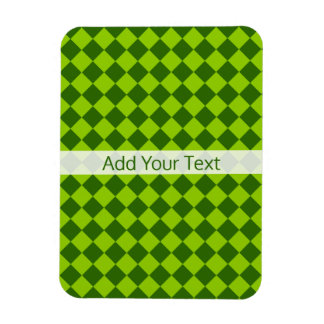 Green Combination Diamond Pattern by STaylor Magnet