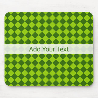 Green Combination Diamond Pattern by STaylor Mouse Pad